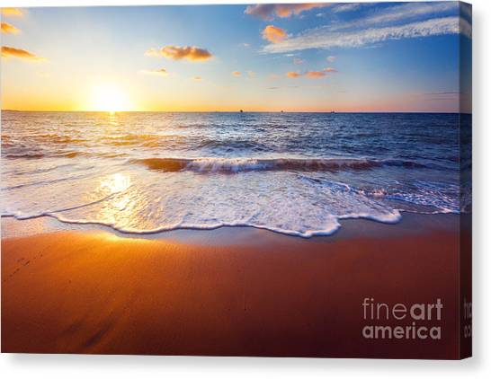 Atmosphere Canvas Print - Sunset And Beach by Ozerov Alexander