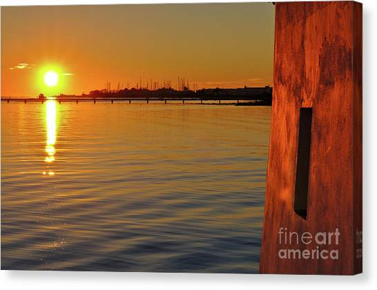 Sunset And Old Watermill Canvas Print