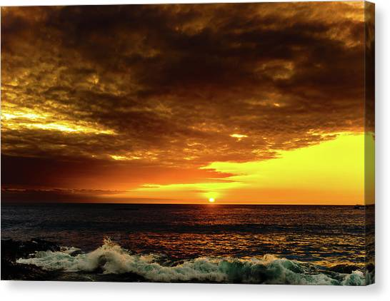 Sunset And Surf Canvas Print