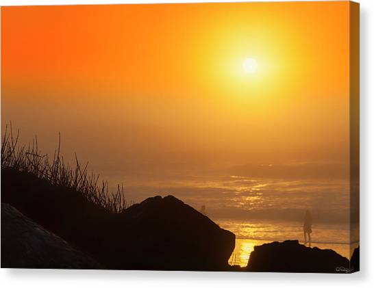 Sunset At Beverly Beach On The Oregon Coast Canvas Print