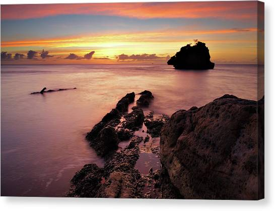 Sunset At Columbus Bay Canvas Print
