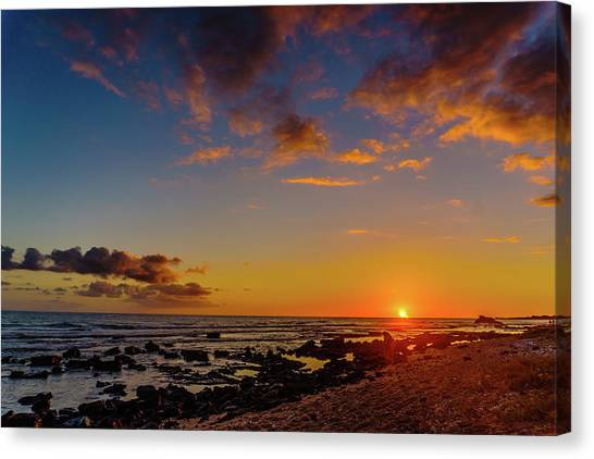 Sunset At Kailua Beach Canvas Print