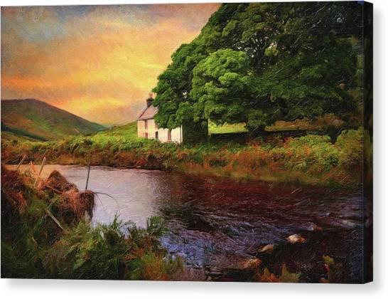 Jenny Lake Canvas Print - Sunset At Lake. Rural Ireland. Wicklow by Jenny Rainbow