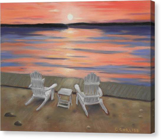 Sunset At Mairs Canvas Print
