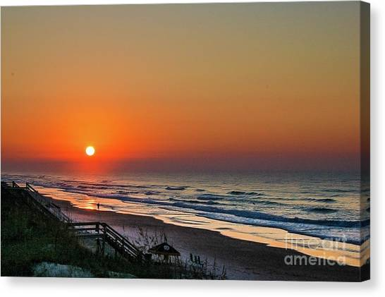 Sunset At Surf City Nc Canvas Print
