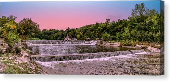 Sunset At The Falls Canvas Print