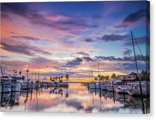 Sunset At The Marina Canvas Print