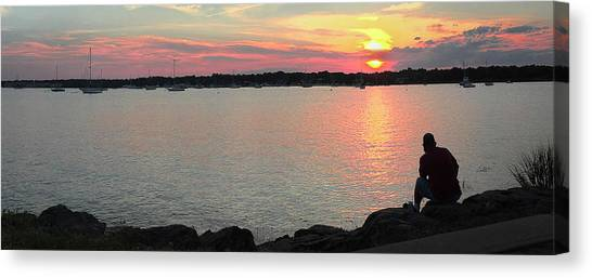 Sunset At The Park Canvas Print