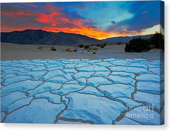 Death Valley Canvas Print - Sunset From Mesquite Flat Sand Dunes by Doug Meek