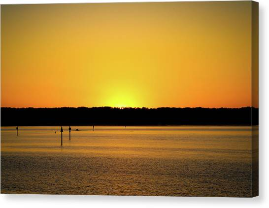 Sunset From National Harbor Canvas Print
