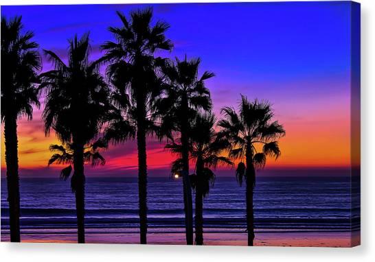Sunset From The Ocean Park Inn Canvas Print