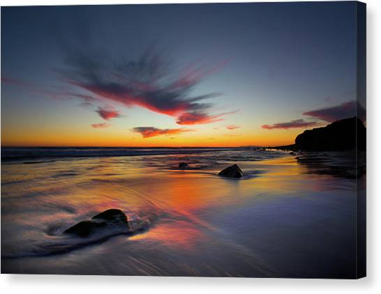Sunset In Malibu Canvas Print