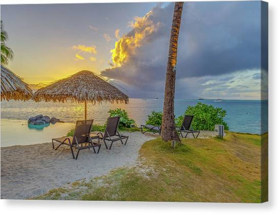 Snorkling Canvas Print - Sunset In Paradise by Scott McGuire