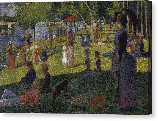 Canvas Print featuring the digital art Sunset In Paris by David Bridburg