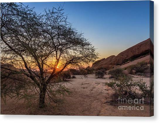 Sunset In Spitzkoppe, Namibia Canvas Print