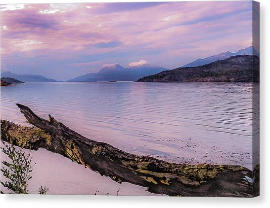 Sunset In Ushuaia Canvas Print