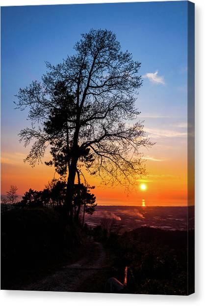 Sunset - Monte D'oro Canvas Print