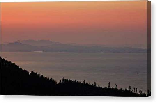 Sunset Of The Olympic Mountains Canvas Print