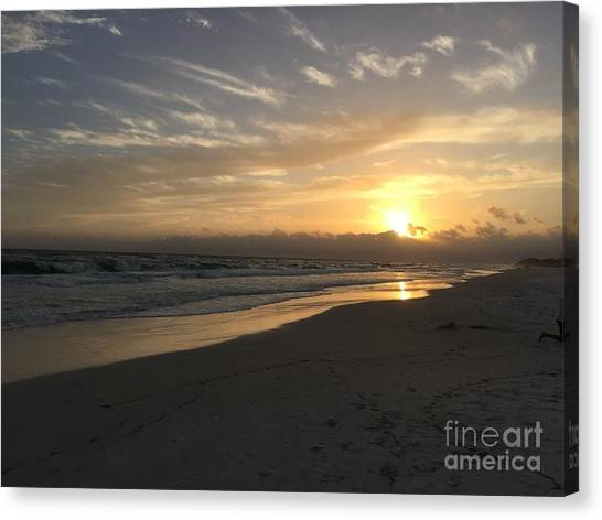 Canvas Print - Sunset On 30a by Megan Cohen