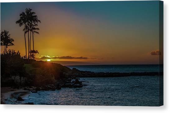 Sunset On Kapalua Canvas Print