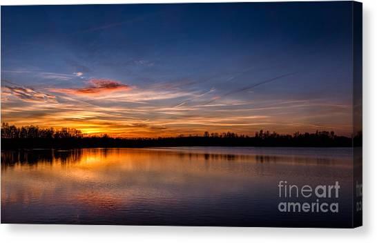 Sunset Over Laupheim Quarry Canvas Print