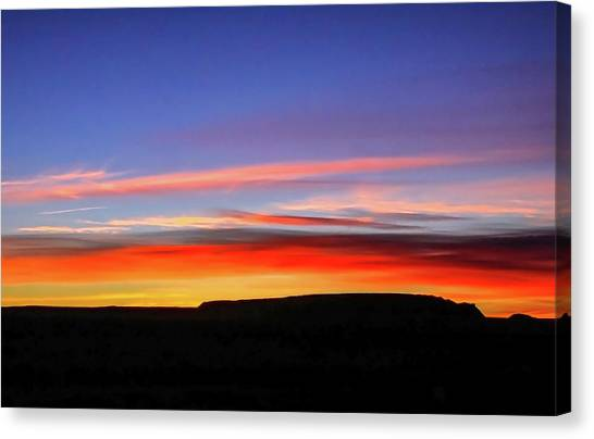 Sunset Over Navajo Lands Canvas Print