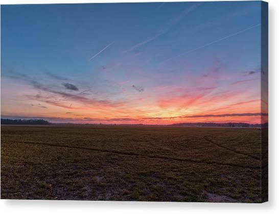 Sunset Pastures Canvas Print