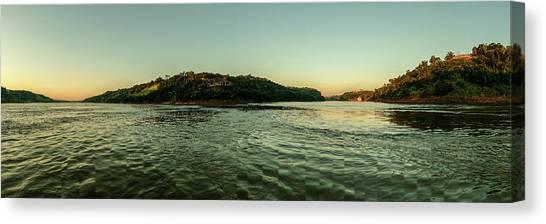Sunset River Confluence Canvas Print