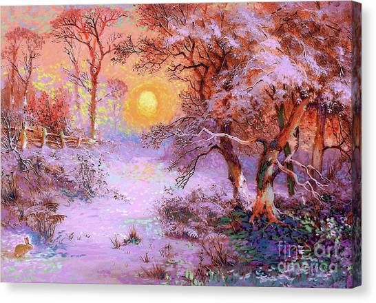 Presents Canvas Print - Sunset Snow by Jane Small