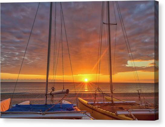 Canvas Print featuring the photograph Sunshine State by Juergen Roth