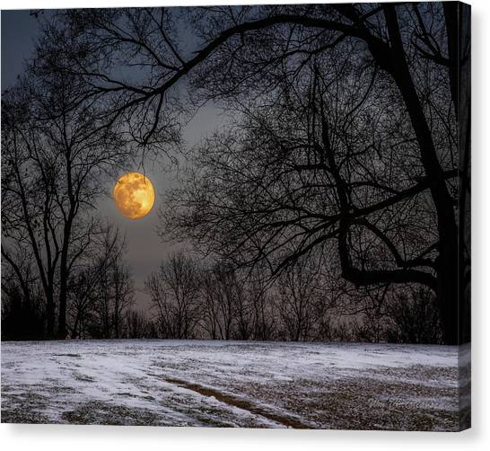Super Blue Moon Rising 3 Canvas Print