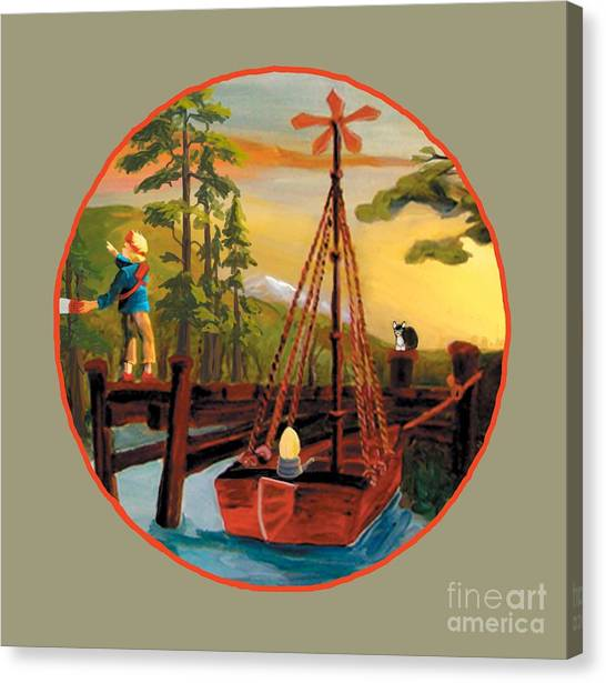 Super Boat Overlay Canvas Print