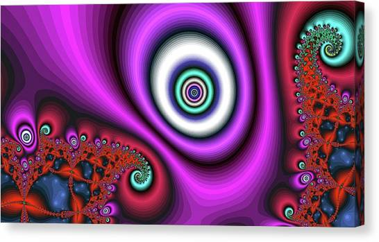 Super Hurricane Eye Magenta Canvas Print