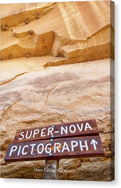 Supernova Pictograph Canvas Print