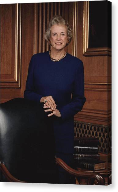 Supreme Court Justice Sandra Day Oconnor Canvas Print