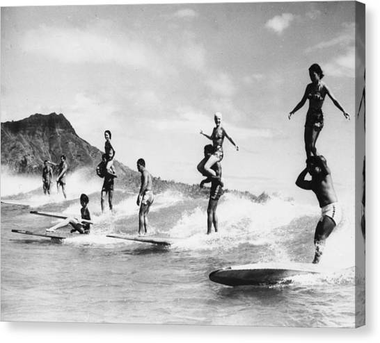 Surf Stunts Canvas Print by Keystone