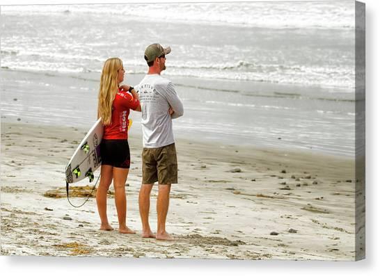 Surfer Girl Caroline Marks Canvas Print