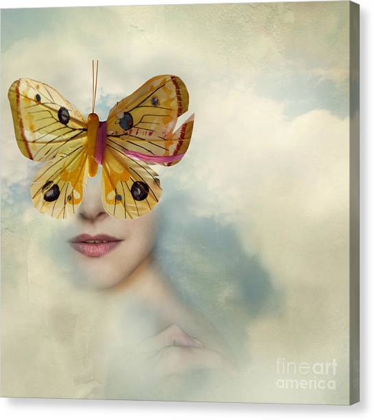 Soul Canvas Print - Surreal Image Representing A Female by Valentina Photos