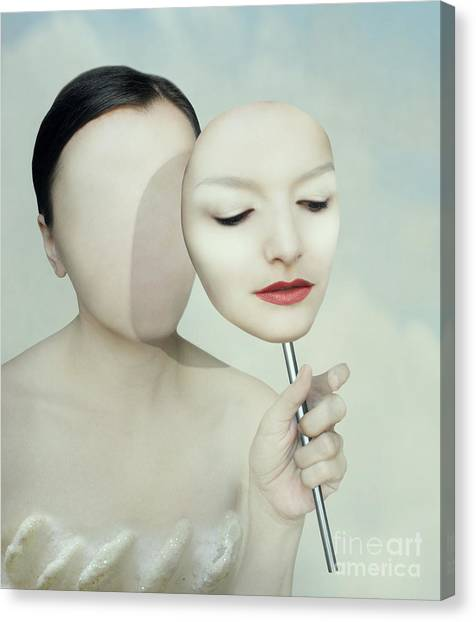 Personality Canvas Print - Surreal Portrait Of A Woman Faceless by Valentina Photos