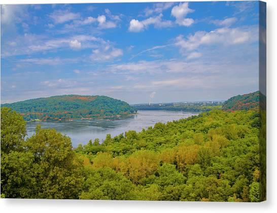 Canvas Print - Susquehanna River In Autumn by Bill Cannon