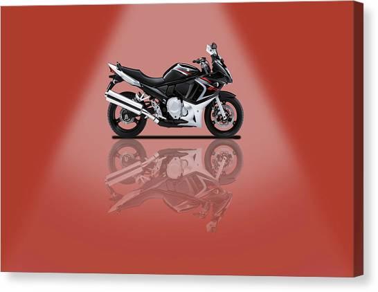 Suzuki Canvas Print - Suzuki Gsx650f Red Spotlight by Smart Aviation