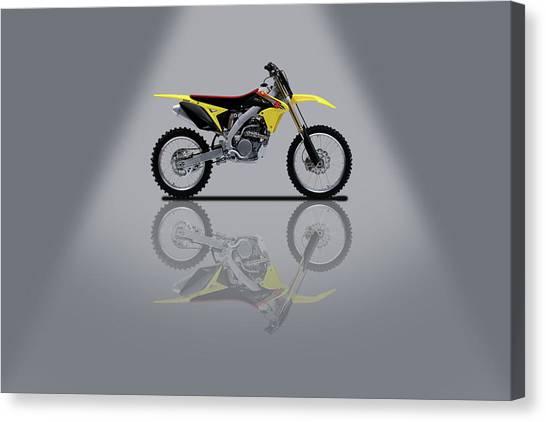Suzuki Canvas Print - Suzuki Rm-z 450 Grey Spotlight by Smart Aviation