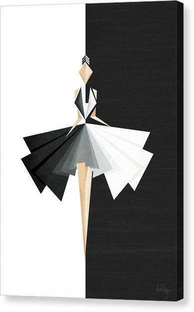 Fashion Canvas Print - Swan Lake by Vess DSign