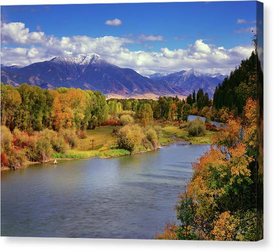 Idaho Canvas Print - Swan Valley Autumn by Leland D Howard