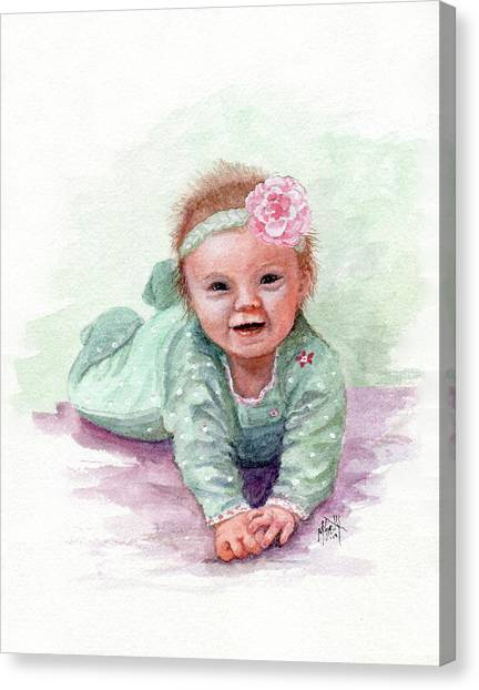 Canvas Print - Sweet Baby Girl by Marilyn Smith