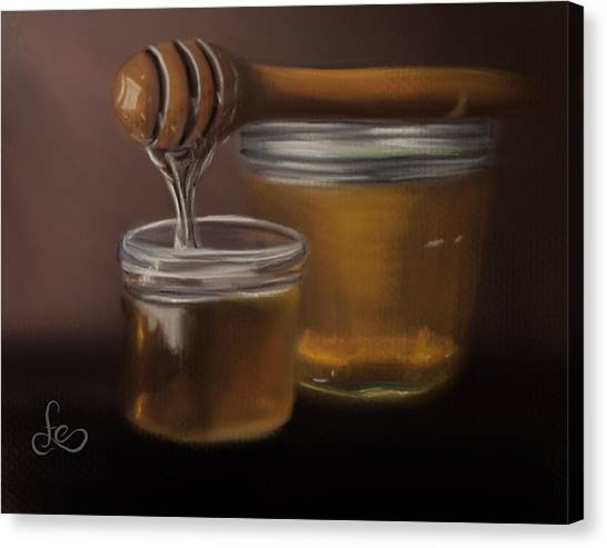Canvas Print featuring the painting Sweet Honey by Fe Jones