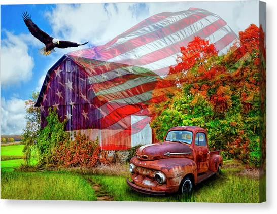 Canvas Print - Sweet Land Of Liberty by Debra and Dave Vanderlaan