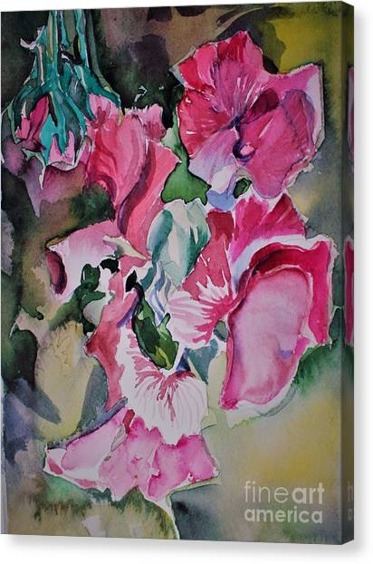 Canvas Print - Sweet Peas by Mindy Newman