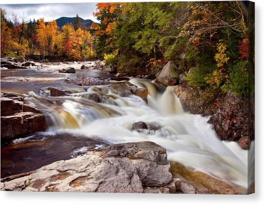 Swift River Rapids Along Kancamagus Canvas Print