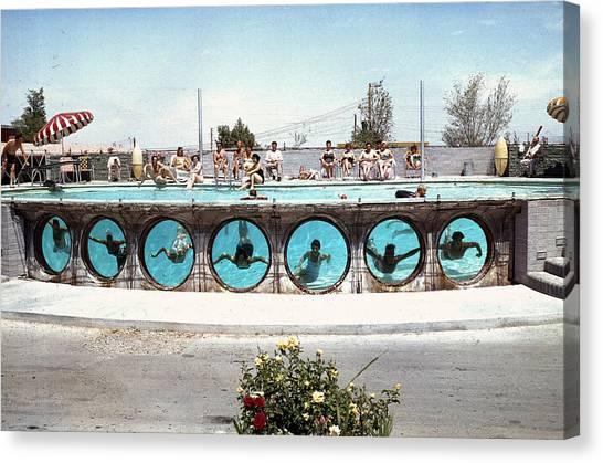 Swimming In Las Vegas Canvas Print
